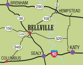 Map Bellville Silver Saddle